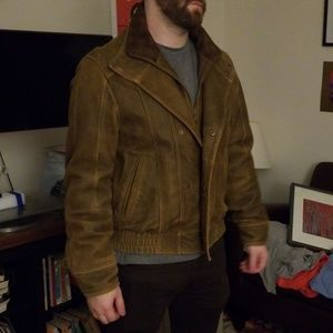 Wilson's Leather Suede Brown Jacket